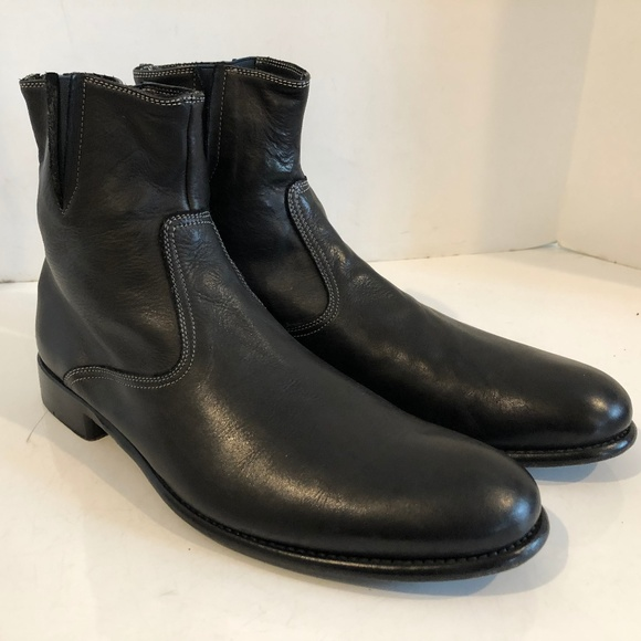 01ba77f8fcec Paul Smith Black Italian Leather Zipper Mens Boots.  M 5c0a975dfe51513ffccabc84